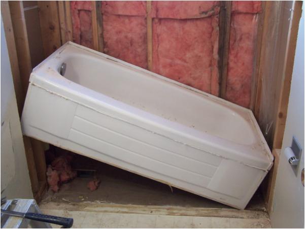 remove replace bathtub