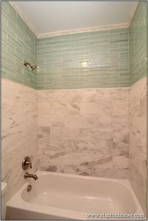 Tile Bathtub Surrounds White Black and Gray Tile Designs
