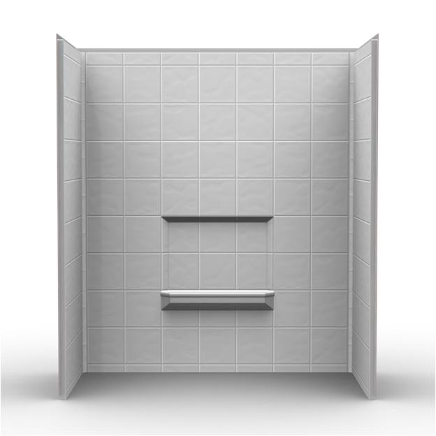 1378 three piece shower wall surround 60 x 30 x 69