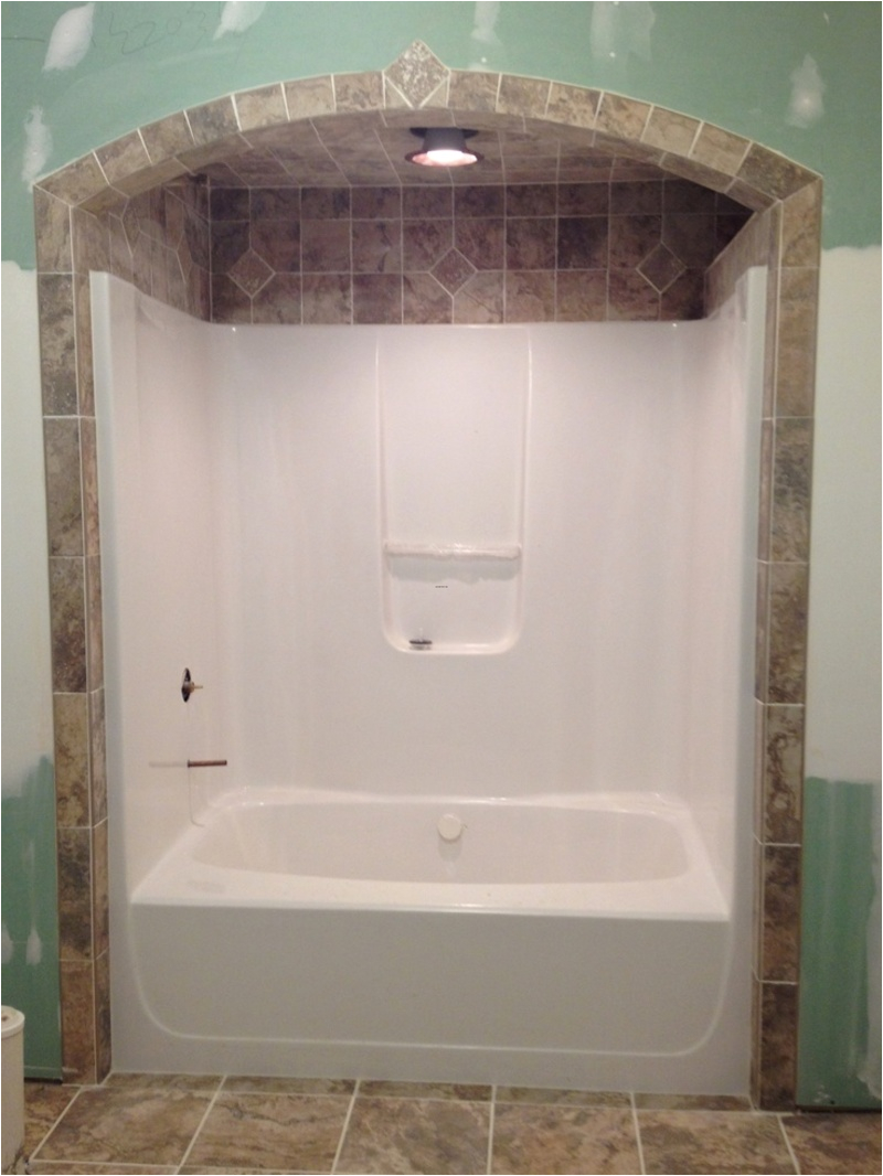 bathtub tile like the idea of tile around and above showertub surround less grout to clean
