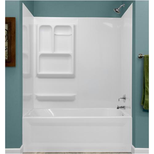 Bathtub Surround with Window Kit Lyons Versatile Sectional Bathtub Wall Kit at Menards