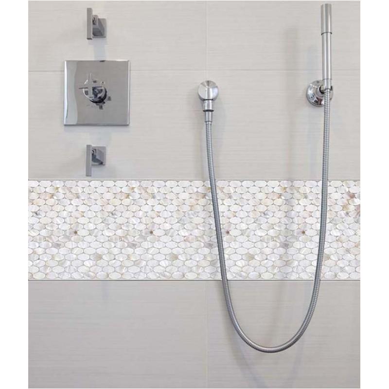 mother of pearl tile natural ellipse white shell mosaic tile mirror backsplash shower liner wall art p1060
