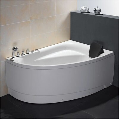 Single Person Corner 59 x 39 4 Whirlpool Bathtub EAGO1056