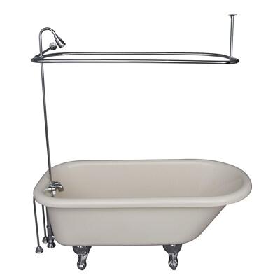 Bathtub with Back Center Drain Barclay 60 In White Acrylic Clawfoot Bathtub with Back