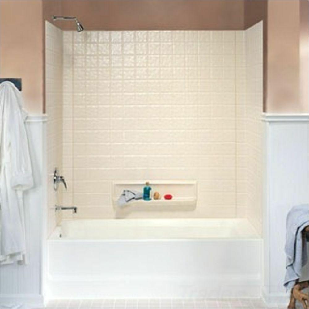 Bathtub with Surround Kit Swanstone Ti 3 010 White 3 Piece Swantile Tub Wall Kit