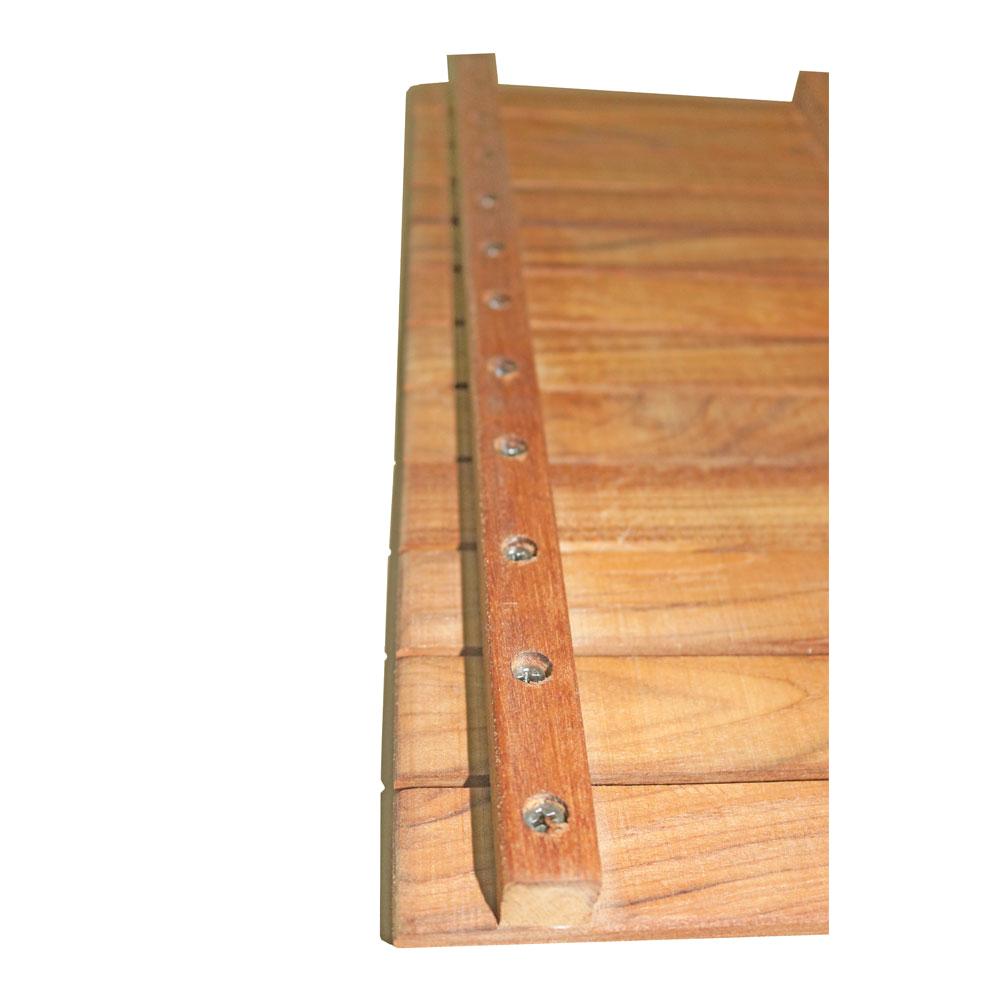 14 by 32 solid burmese teak bath shower grate mat high quality craftsmanship