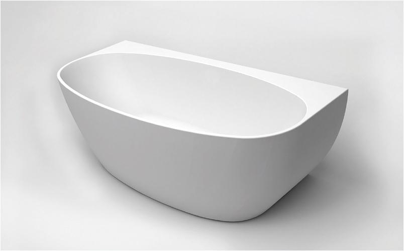 Bathtubs 1500mm 1500mm Oval Back to Wall Bath Tub Bathrooms A Bud
