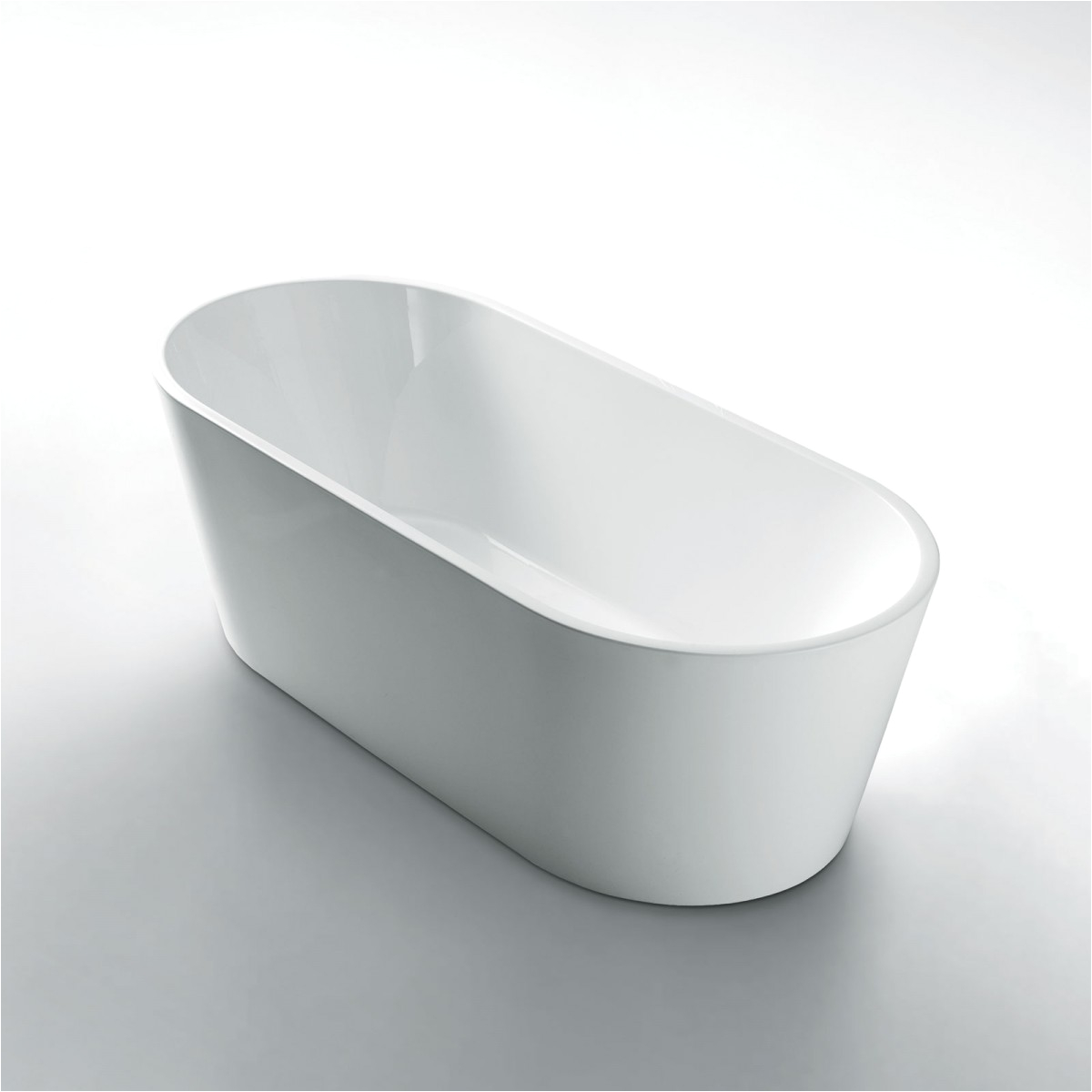 aspen 1500mm oval free standing bath