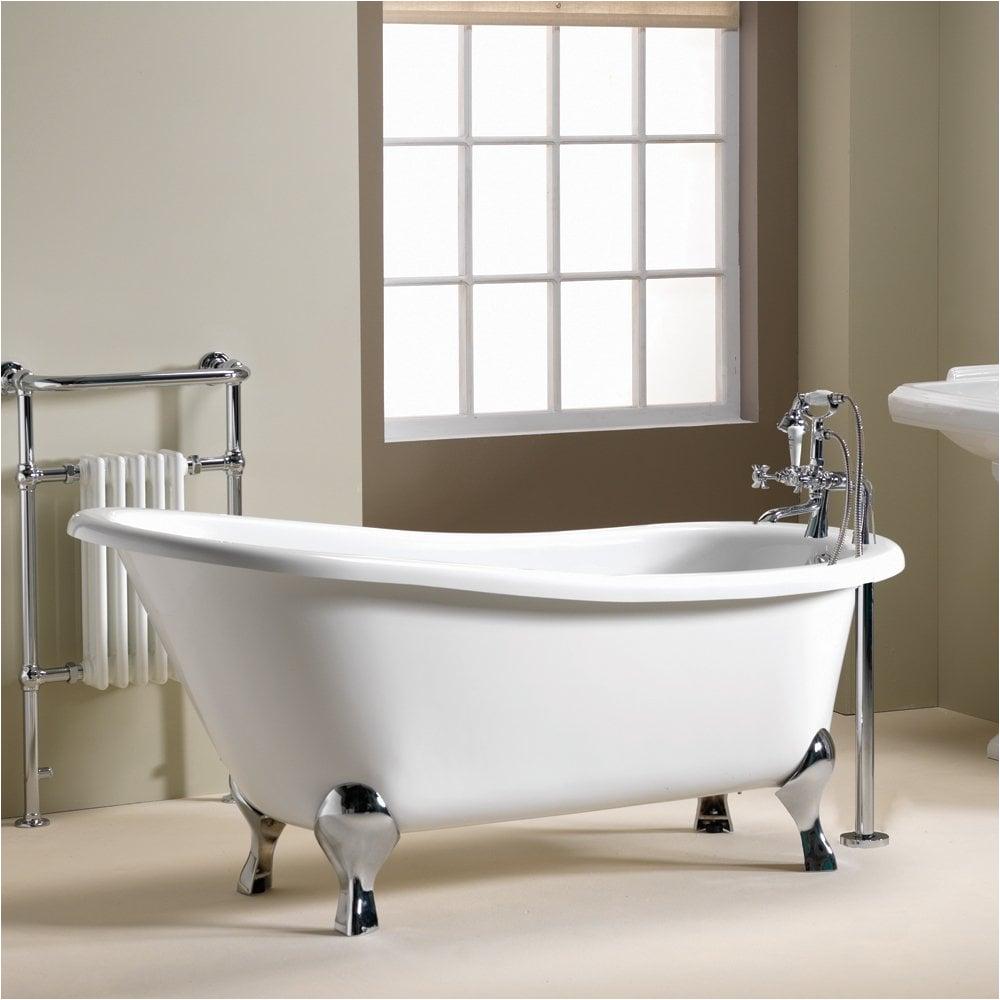 iconic diana slipper freestanding bath 1600 x 740mm 1700 x 750mm p645