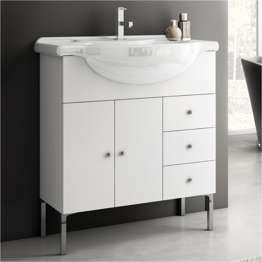 Bathtubs 32 Wide Modern 32 Inch London Vanity Set with Ceramic Sink