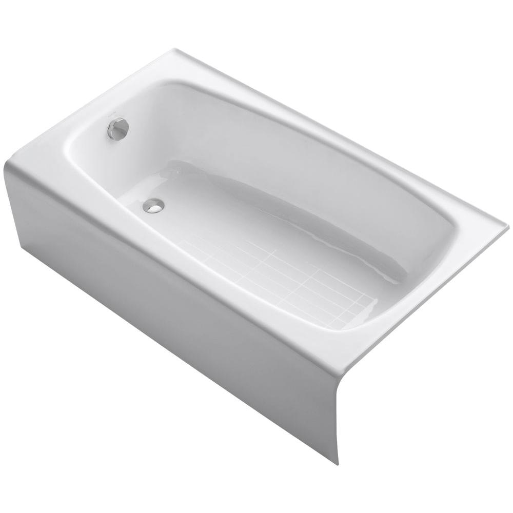 Bathtubs 4 Ft Kohler Seaforth 4 5 Ft Left Drain Rectangular Alcove