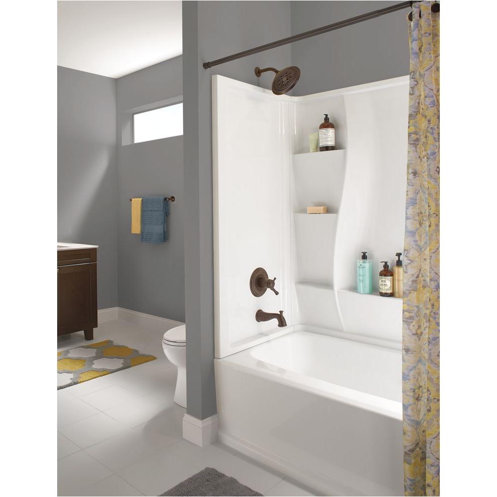 delta bathtubs 5 ft x 32 in left hand drain bathtub in white l