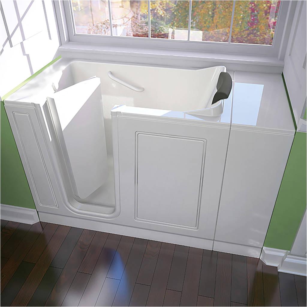 acrylic luxury series 28x48 inch soaking walk in bathtub left door and drain