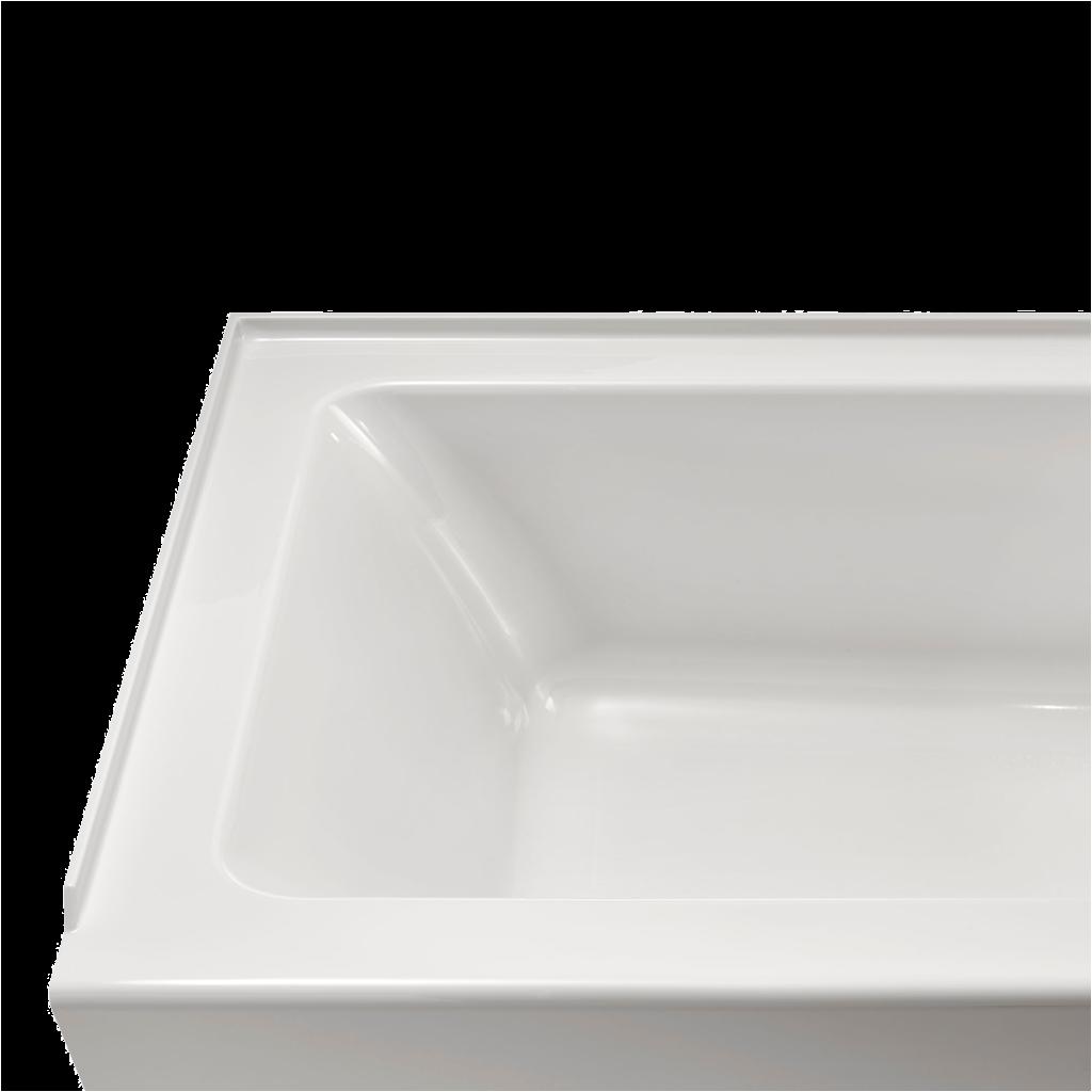 studio 60x30 inch integral apron bathtub left drain