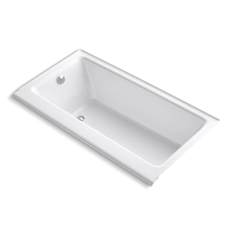 Kohler Highbridge 60 X 32 Alcove Bath with Enameled Apron and Left Hand Drain 877 S KOH