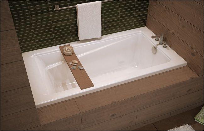 "Bathtubs 60 X 32 Maax Exhibit 60"" X 32"" Acrylic Alcove Bathtub with Tiling"