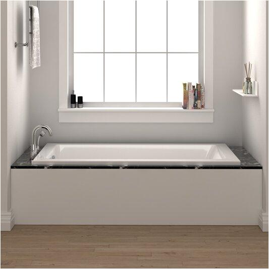 "Bathtubs 72 Fine Fixtures Drop In or Alcove Bathtub 36"" X 72"" soaking"