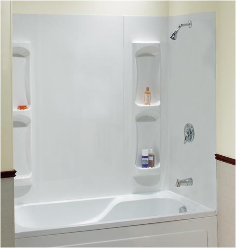 """Bathtubs and Walls Maax 59"""" Utah 5 Piece Tub Wall Kit at Menards"""