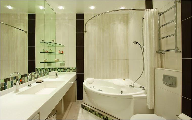 small corner bath bathroom