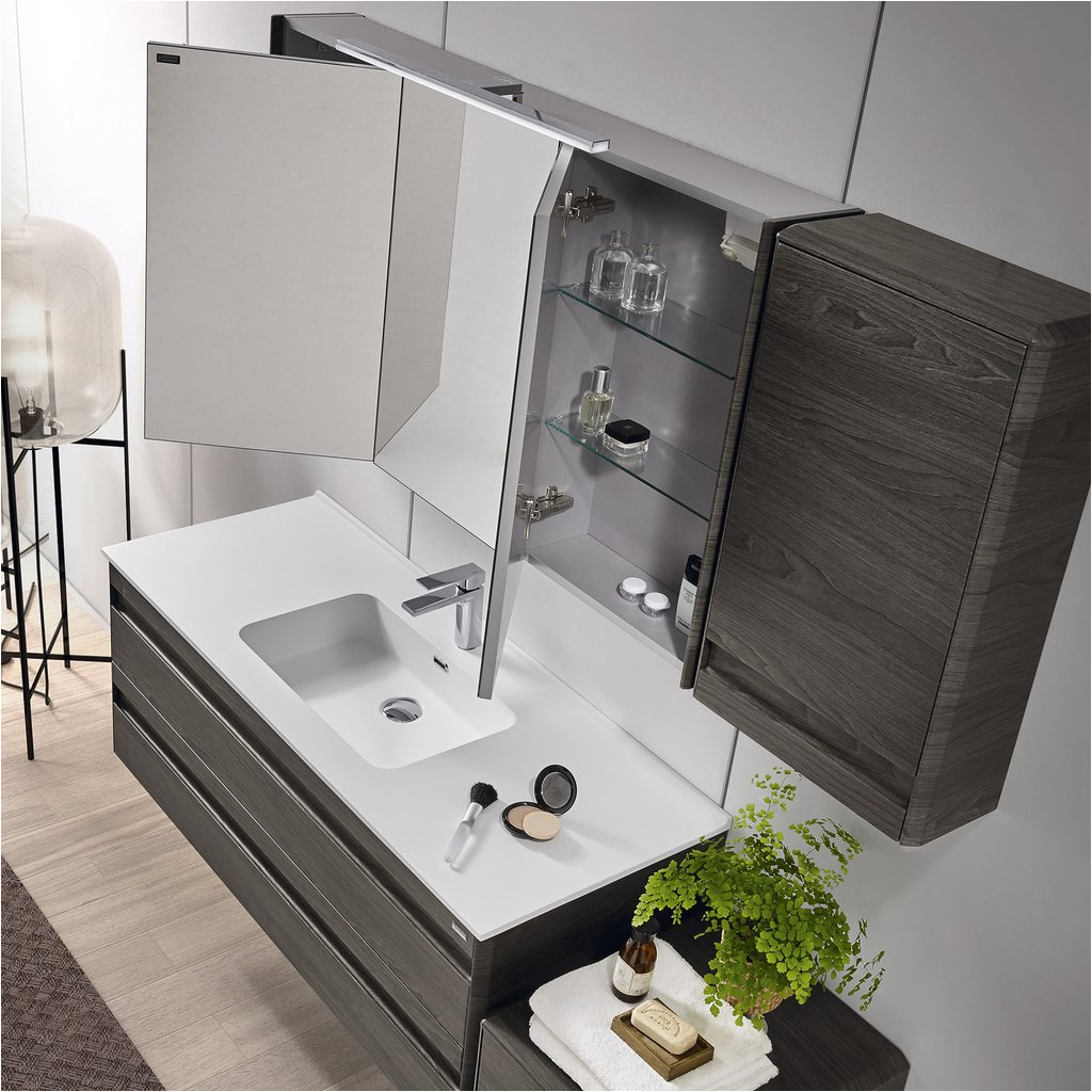 valenzuela barcelona 48 inch medicine cabinet bathroom vanity mirror wall mount 3 doors walnut finish vet