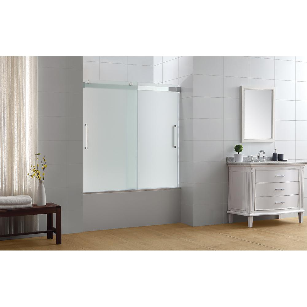 Bathtubs Doors 4 Ove Decors Beacon 60 In X 59 In Semi Frameless Sliding