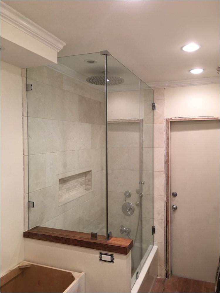 Bathtubs Doors L L Shape Framelesss Shower Door Bath Tub Enclosure In south