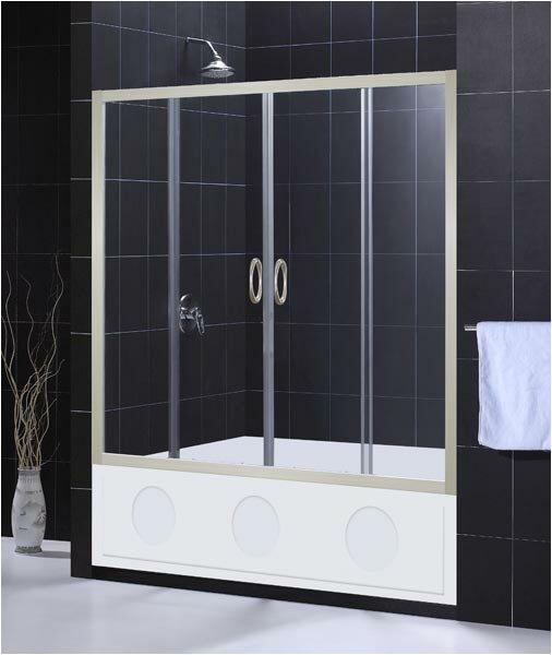 "Bathtubs Doors Y Dreamline Visions 60"" X 58"" Double Sliding Frameless Tub"