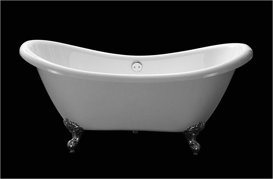 """Bathtubs Ebay Clawfoot 69"""" Double Slipper Acrylic Bath Tub Bathtub"""