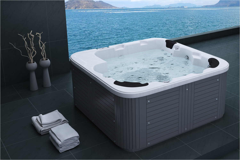 Bathtubs Ebay Uk Hot Tub 40 Jets Jacuzzi Pool Garden Tub Wooden