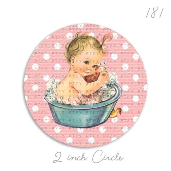 adorable vintage baby girl in bath tub 2