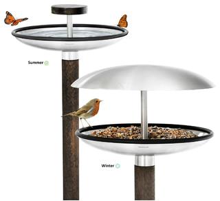 All Seasons Bird Feeder and Bird Bath contemporary bird feeders