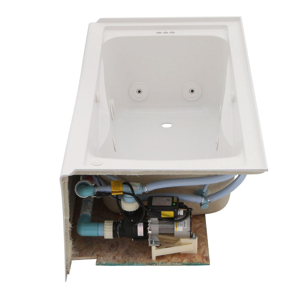 american standard everclean 60 x 32 left drain whirlpool tub