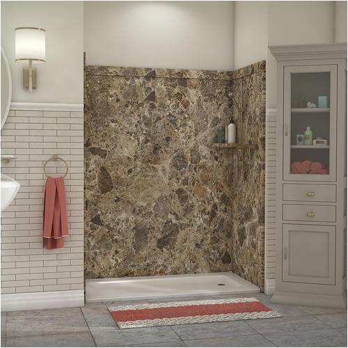 "Bathtubs for Sale Menards Flexstone Royale 60"" X 36"" Bathtub Shower Wall Surround at"