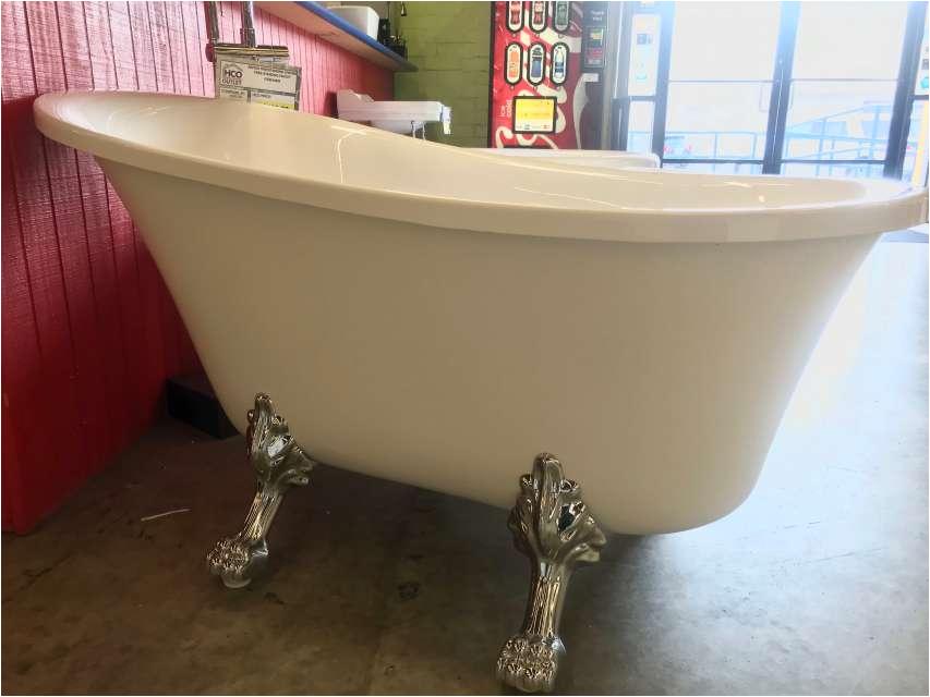 2550 59 slim line clawfoot soaker freestanding tub 5471