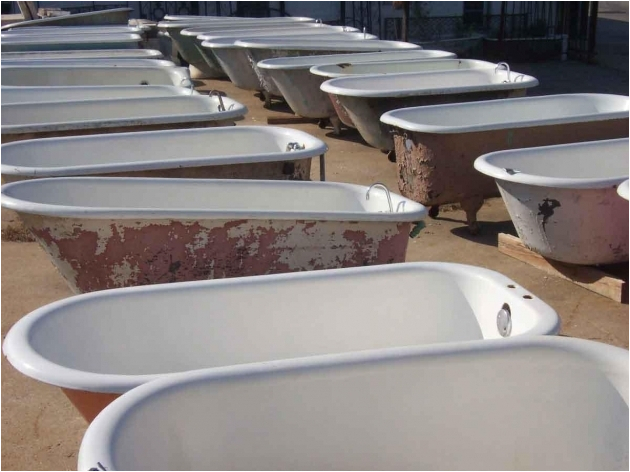 refurbished clawfoot tub for sale