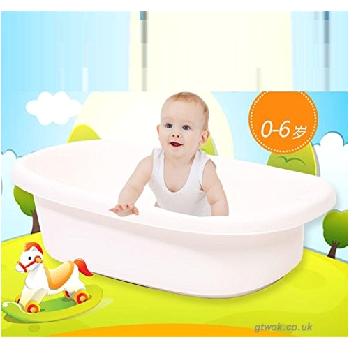 shishang children s bathtub large thickening can sit on a non slip shower bed blue and yellow size 93 54 30cm for 0 6 year old baby b075f3cj7z