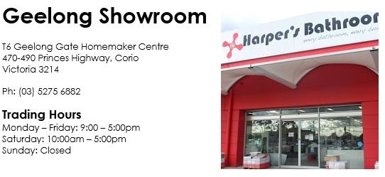harpers bathrooom geelong showroom