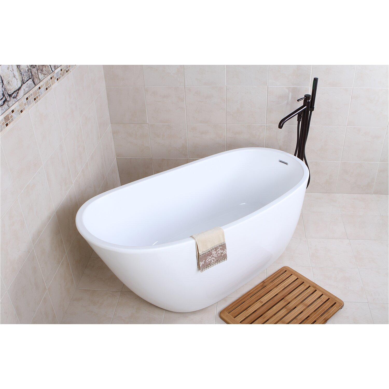 "Bathtubs Kingston Kingston Brass Aqua Eden 59"" X 28 6"" soaking Bathtub"