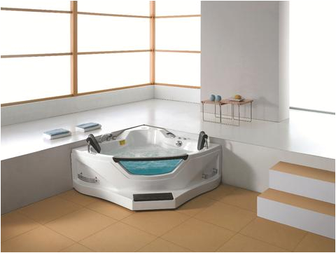 2 person corner hydrotherapy whirlpool bathtub spa massage therapy hot tub