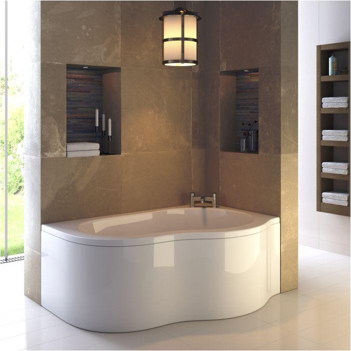 premier estuary 1500mm x 1000mm corner bath and panel right hand