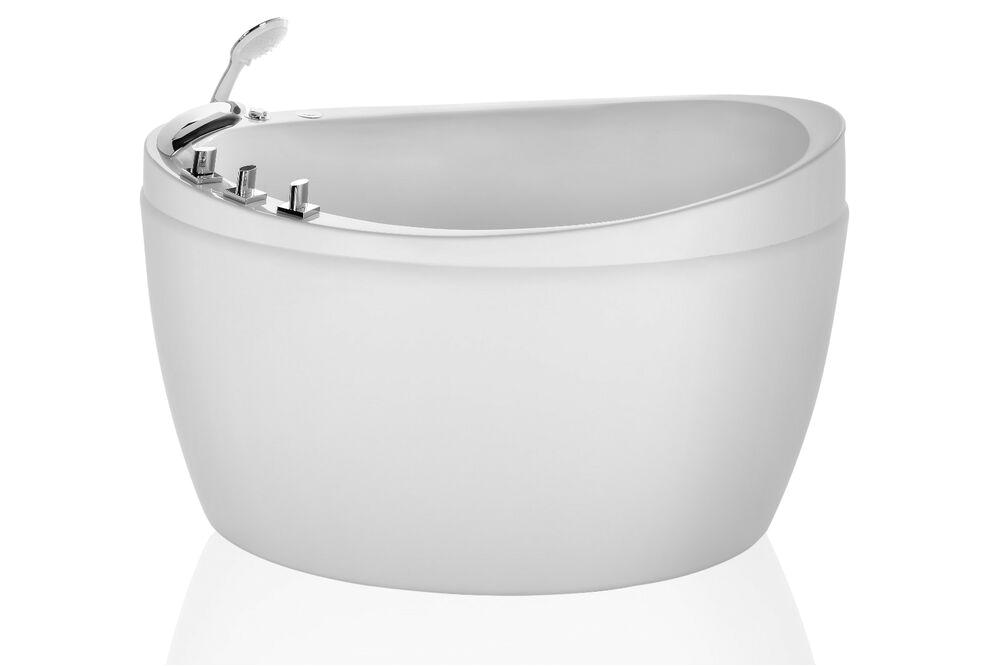 "Bathtubs Luxury 0 Empava 50"" Luxury Freestanding Jacuzzi Bathtub White"