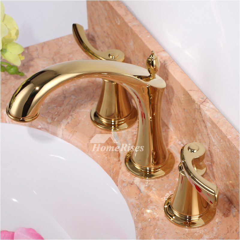 fancy bathtub faucets luxury polished brass widespread 3 hole gold p hois2060 1469