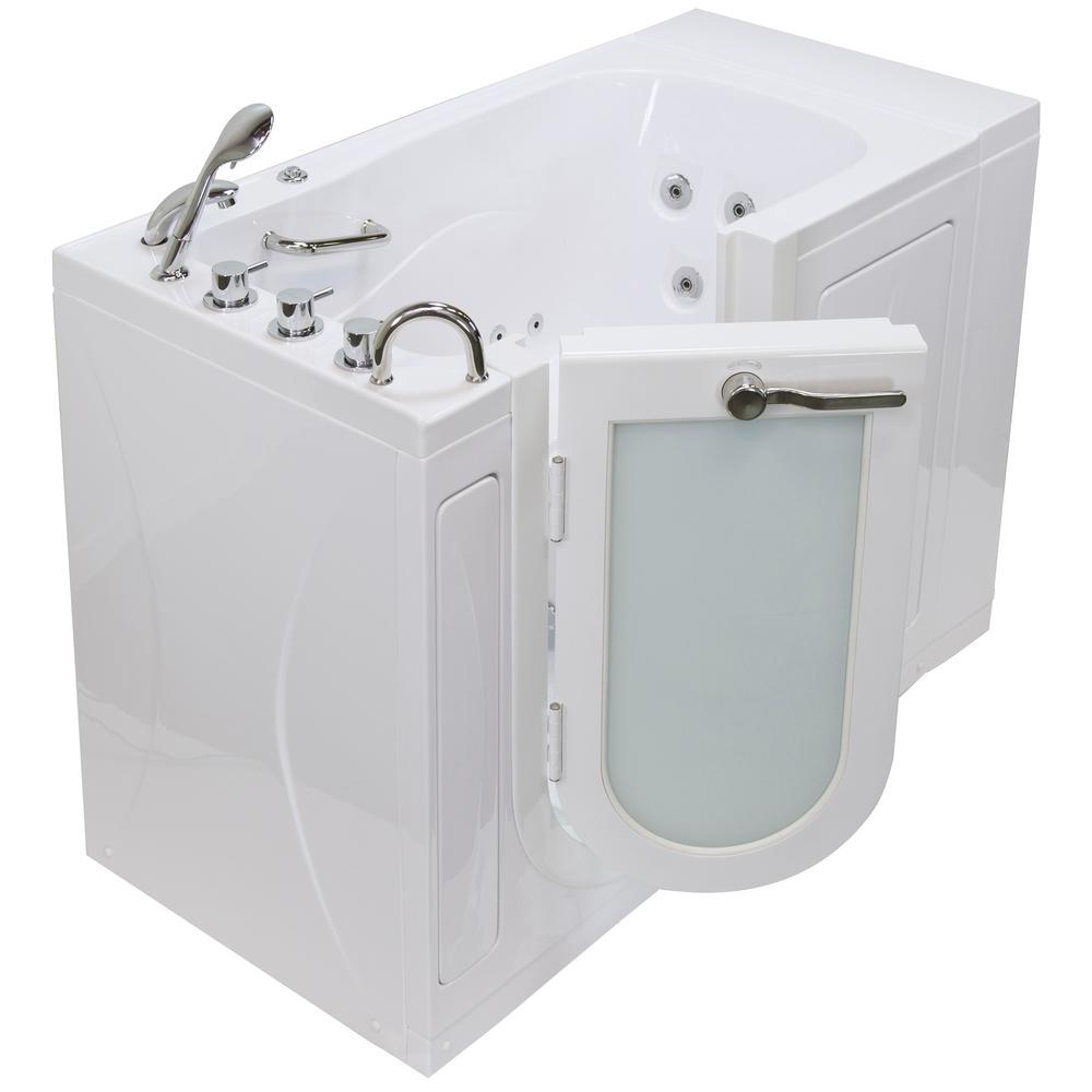 Bathtubs Luxury L Ella Monaco Acrylic 52 In Walk In Whirlpool Bath In White