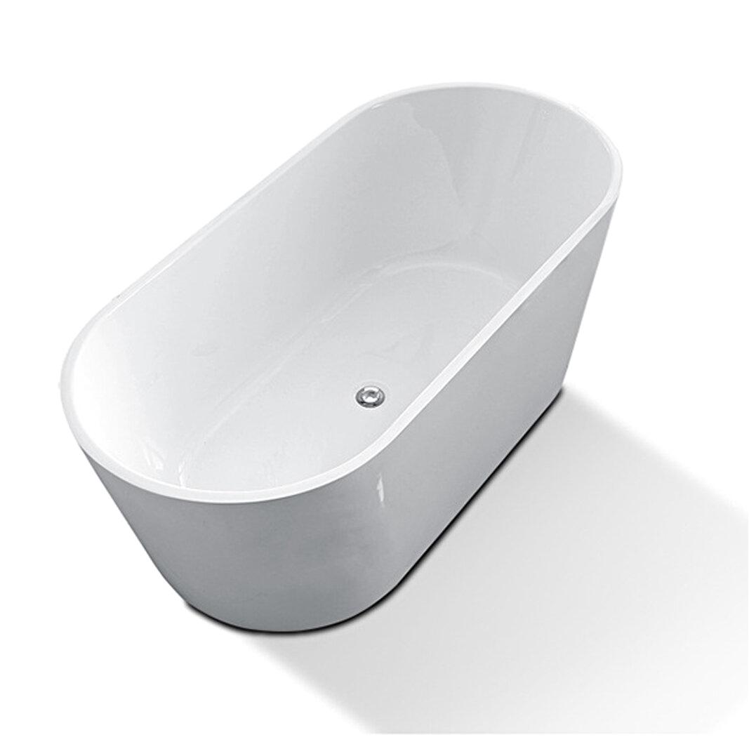 KDK HOME Luxury Acrylic Spa 67 x 33 Freestanding Soaking Bathtub KBT L590 K KDKH1102 refid=BR49 KDKH1102