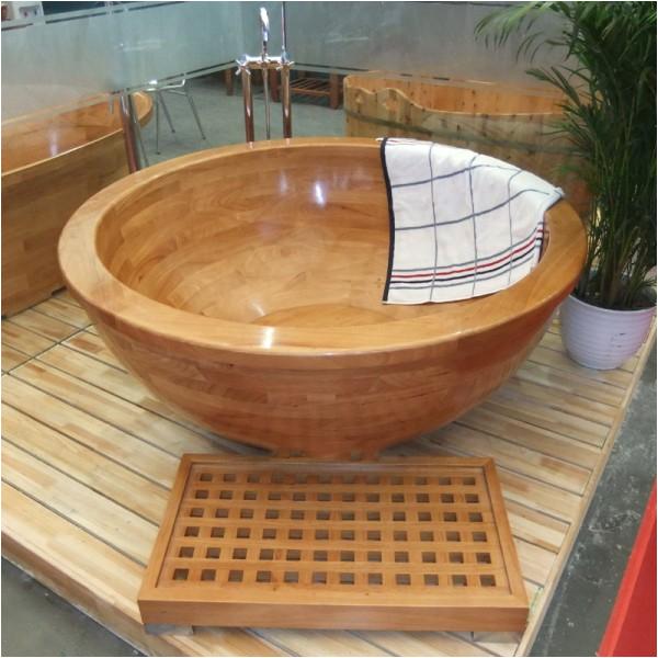 oak bathtub luxury round oak freestanding bathtubs