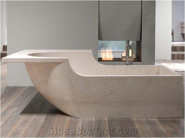 luxury cream limestone bath tubs solid surface bathtubs for bathroom