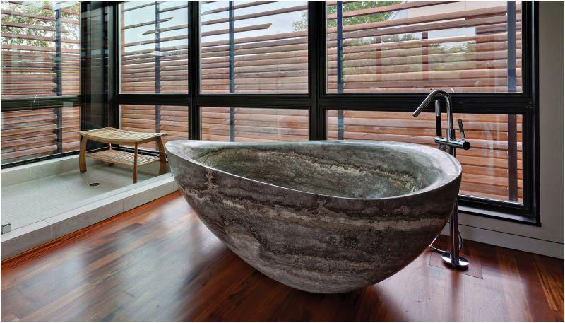Bathtubs Made Of 30 Stone Bathtubs that Will Rock Your Bathroom In