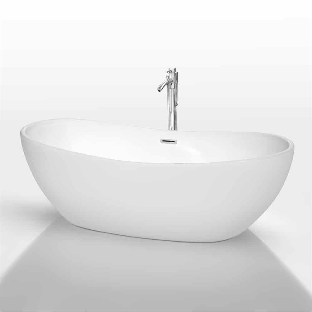 rebecca 70 soaking bathtub by wyndham collection white