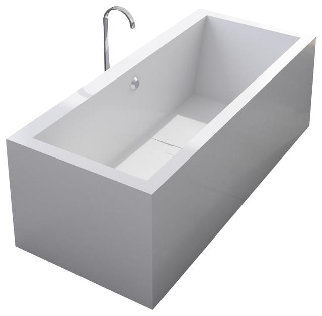 adm matte white stand alone resin bathtub modern bathtubs