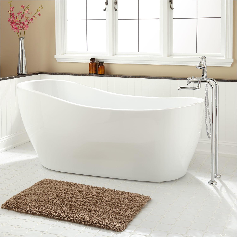67 giana freestanding acrylic slipper tub